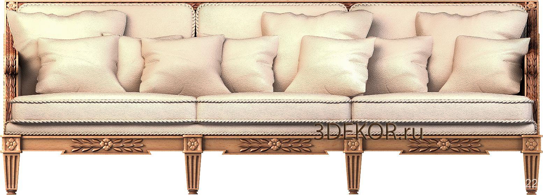 пример дивана в стиле классицизм